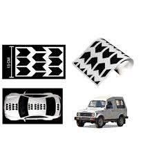 tata sumo black speedwav car racing stripe graphic sticker black arrow for maruti