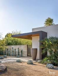 Modern Front Yard Desert Landscaping With Palm Tree And 15 Modern Front Yard Landscape Ideas Modern Front Yard Front