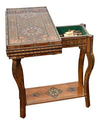 expandable game table vintage u0026 used wood card and game tables chairish