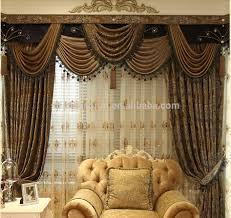 curtains european style curtains ideas gold living room floral