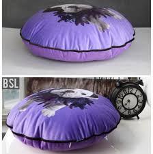 cuscini rotondi bulldog cuscini decorativi viola divani cuscini rotondi