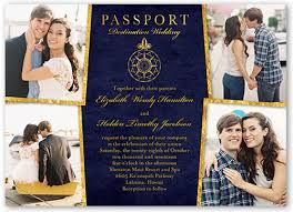 wedding invitations shutterfly enamored passport 5x7 wedding invitation shutterfly