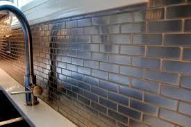 mini subway tile kitchen backsplash meta steel ceramic mini subway tile backsplash contemporary