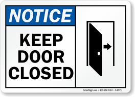 keep closed signs door gate signs sku s 0971