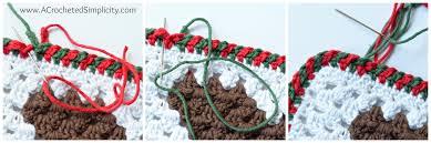 criss cross crochet edging step by step photo tutorial a