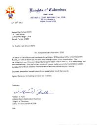 Thank You Letter Veterans naples jrotc thank you letters notes