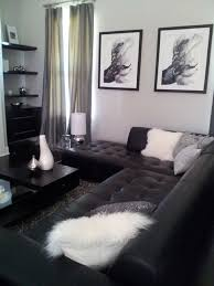 Black Leather Sofa Living Room by Interior Black Living Room Ideas Pictures Dark Brown Sofa Living