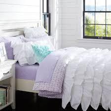 Pottery Barn White Comforter Rufflicious Quilt Sham Pbteen