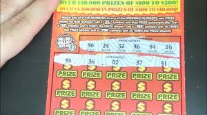 Lottery Instant Wins - big win on 150 million cash spectacular scratch off lottery