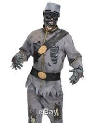 Toy Soldier Halloween Costume Scary Confederate Soldier Zombie Civil War Halloween Costume
