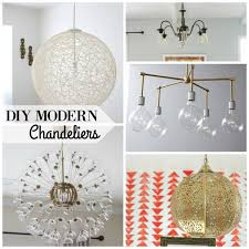 Modern Light Fixture Remodelaholic 25 Gorgeous Diy Chandeliers