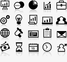 icone de bureau gratuit bureau de vecteur d icône de scène vecteur mallette coordonnées