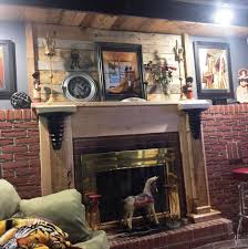 pallet fireplace mantel