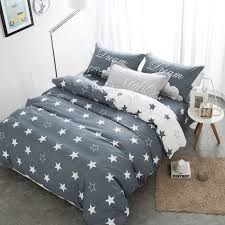 Home Bedding Sets Grey And White Polyester Home Bedding Sets Embroidered Printed
