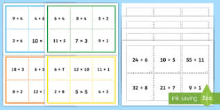 equivalent multiplication and division number sentence ks2 bingo