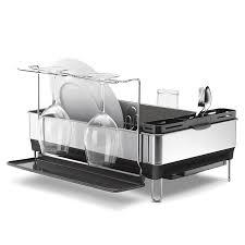 assiette porte verre simplehuman égouttoir à cadre d u0027acier avec porte verres à vin