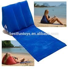 promotional custom pvc flocking inflatable backrest wedge pillow