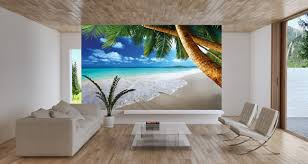 pictures of living room mural ideas pog surripui net amazing wall mural ideas beach with palm tree and white sofa also glass coffe table wooden
