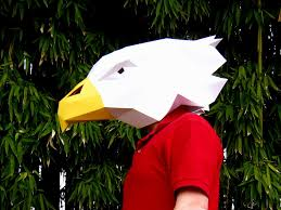 raptor mask halloween eagle mask make your own eagle with just paper and glue paper
