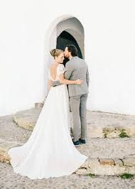 wedding dress raisa and dennis an ibiza elopement at atzaro bloved