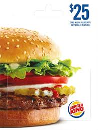 amazon com burger king 25 gift cards