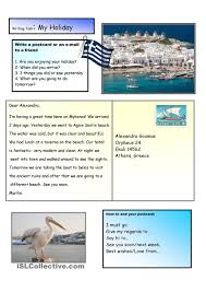 creative writing a holiday postcard 2 a2 level для уроков