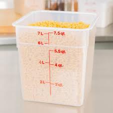 cambro 8sfspp190 8 qt translucent square food storage container