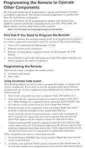 rca remote manual rca rcr 615 teln1 remote control setup code lilst electro help