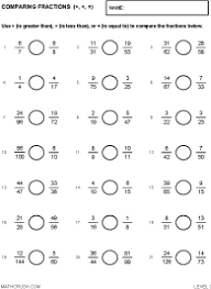 compare fractions worksheets free worksheets library download