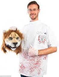 Fake Blood Halloween Costume Costumeish Sells Cecil Lion Killer Halloween Costume Daily