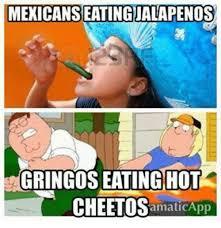 Cheetos Meme - mexicanseatingialapenos gringos eating hot cheetos amaticapp