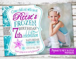 frozen birthday invitation with photo