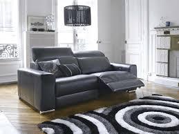 canap relax moderne canapé relaxation 3 places stan coloris noir conforama