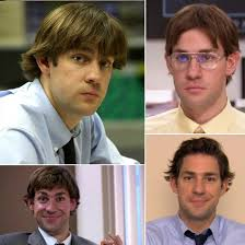 jim halpert hairstyle the office s jim s hair pictures popsugar entertainment