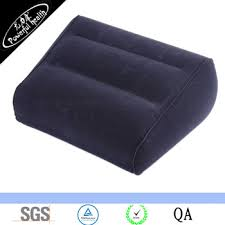inflatable travel leg up foot rest back pain footrest pillow