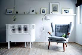 sofa bed for baby nursery baby room with bed and chair gray interior design ideas ofdesign