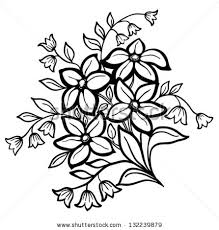 drawn flower flower arrangement pencil and in color drawn flower
