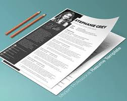Modern Resume Template Word Modern Resume Template For Word 1 3 Page Resume Cover