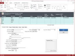 Excel Database Templates Free Hr Employee Ms Access Database Template Hr Employee Ms Access