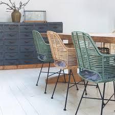 Artefac Furniture Scandi Style Rattan Tub Dining Chair In Black Dining Chairs Cuckoo