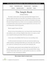 punctuation the jungle book worksheet education com
