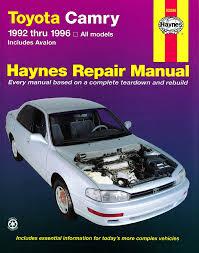 1993 toyota camry repair manual toyota camry 92 96 avalon 95 96 haynes repair manual