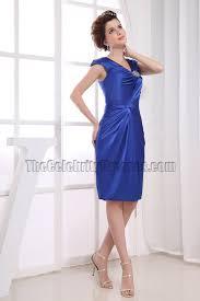 knee length royal blue cocktail dress party dresses