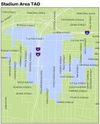 Atlanta Street Map Invest Atlanta Stadium Area Tad