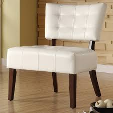 White Leather Accent Chair Attractive Faux Leather Accent Chair Shop Nail Chair On Wanelo