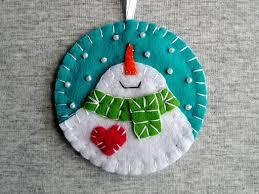 christmas tree ornaments felt snowman home decor felt