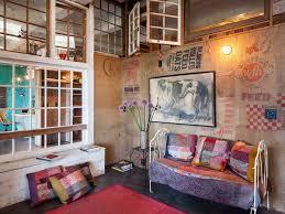 coole wandgestaltung wohnzimmer wanddeko selber machen aus leinwandsäcken als coole