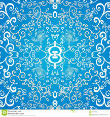 blue symmetric floral ornament background stock vector image