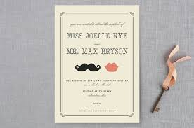 wedding invitations minted stache wedding invitations by penelope poppy minted