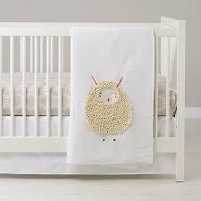 sheepish sheep print crib bedding the land of nod